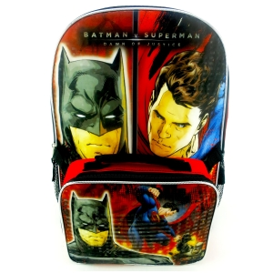 BATMAN V SUPERMAN LARGE BACKPACK W/ LUNCH