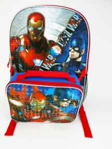 CIVIL WAR LARGE BACKPACK W/ LUNCH
