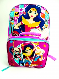 DC SUPERHERO GIRLS LARGE BACKPACK W/ LUNCH24.99