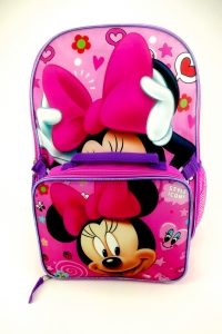 MINNIE MOUSE-LARGE BACKPACK W/ LUNCH