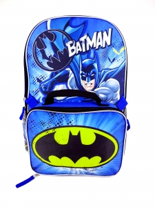 BATMAN LARGE BACKPACK W/ LUNCH